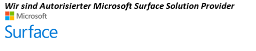 Wir sindAutorisierter Microsoft Surface Solution Provider